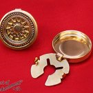 2x Steampunk Cuff Button Covers Antique Brass Wheel Mens Mandarin Collar P27