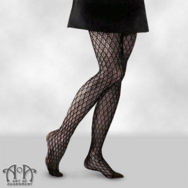 Black Crochet Fishnet Pantyhose Lace Net Tights Gothic Punk Mesh S13