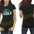 New Design Philadelphia Eagles NFL Women's Black T Shirt