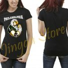 Philadelphia Eagles Mascot NFL Women's Black T Shirt