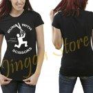 Runs With Scissors Women's Black T Shirt