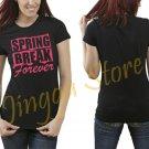 Spring Break Forever Women's Black T Shirt