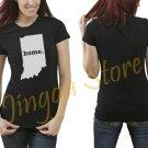 Indiana Home Women's Black T Shirt