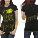 Nirvana Shirt Baseball Tee Top Faces Women's Black T Shirt