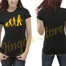 Big Bang Theory Sheldon Cooper Robot Evolution Women's Black T Shirt