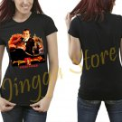 Goldfinger Bond 007 retro 70's 80's Women's Black T Shirt