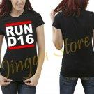 JDM New Driver Badge RUN D16 Single Cam Civic CRX Engine Motor Mounts Women's Black T Shirt