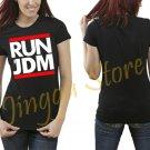 JDM RUN JDM NEW DRIVER BADGE SIGN FLUSH STANCE STATIC CIVIC INTEGRA CRX Women's Black T Shirt