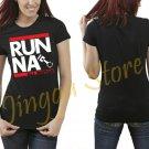 JDM RUN NA ALL MOTOR K20 B18 B16 B20 Integra Civic Women's Black T Shirt