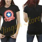 Marvel Captain America Women's Black T Shirt