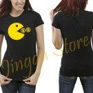 Pacman Eats Money Women's Black T Shirt