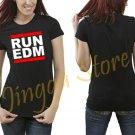 RUN EDM RUN DMC Joke EDM Dance Music Women's Black T Shirt