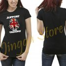 Support Our Troops Stormtrooper Women's Black T Shirt