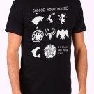 Choose Your House Men's Black T Shirt