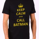 Keep Calm and Call Batman Men's Black T Shirt