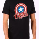 Marvel Captain America Men's Black T Shirt