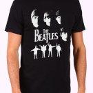 MEET THE BEATLES MUSIC ROCK PUNK RETRO POP Men's Black T Shirt
