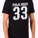 Polk High Number 33 Men's Black T Shirt