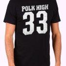 Polk High Number 33 Men's Black T Shirt