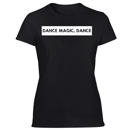 Dance Magic funny 80s Women's Black T Shirt