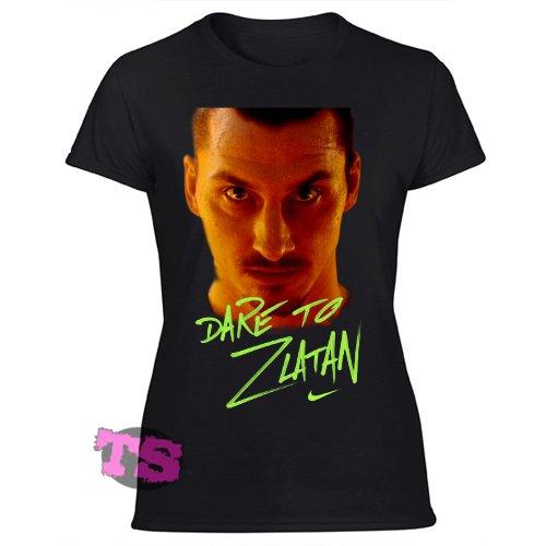 Dare to Zlatan Inspired Women's Black T Shirt