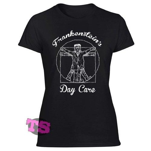 Frankenstein's Day Care Women's Black T Shirt