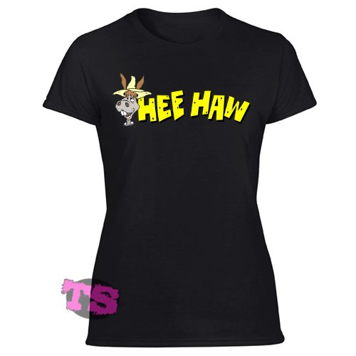 Hee Haw Cartoon Tv Show Women's Black T Shirt