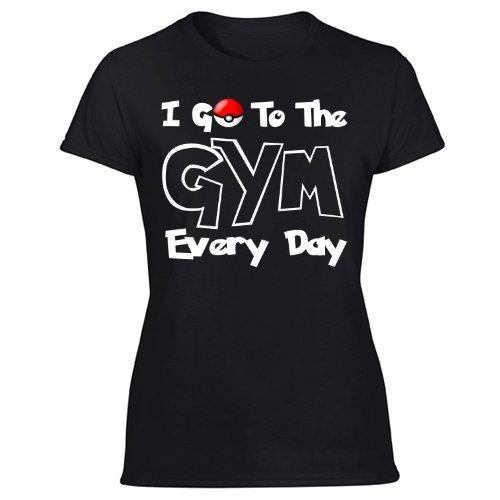 I Go To The Gym Every Day, Pokemon Go Fitness Shirt Women's Black T Shirt