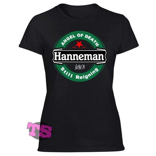 JEFF Hanneman BLACK ANGEL OF DEATH  STILL REIGNING Women's Black T Shirt