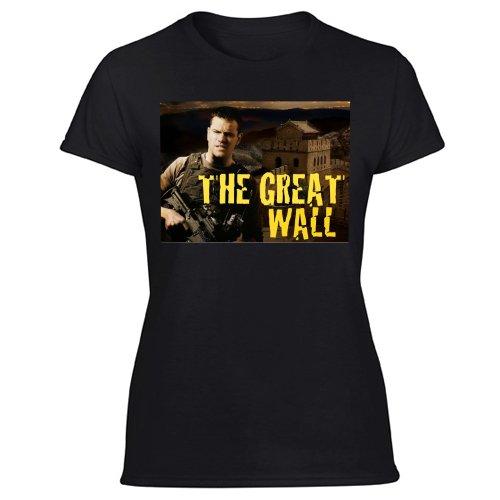 Matt Damon Might Lead Legendary's China-Set THE GREAT WALL Women's Black T Shirt