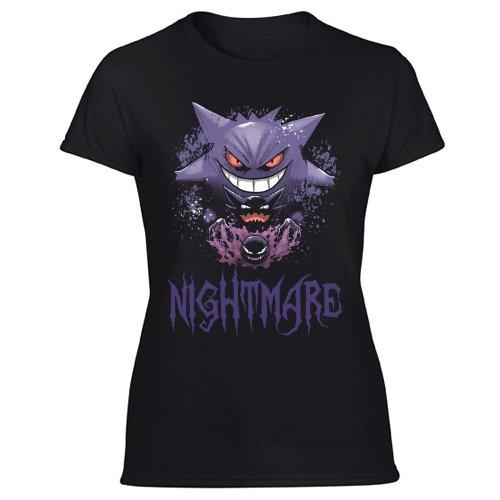 Nightmare Gastly Haunter Gengar Pokémon Haloween Women's Black T Shirt