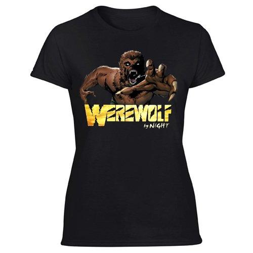 Werewolf by Night Marvel Comics Women's Black T Shirt