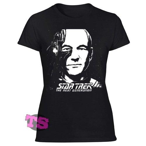 WHAT WOULD PICARD DO-STAR TREK NEXT GENERATIONS Women's Black T Shirt
