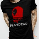 DEADPOOL PLAYDEAD Men Black T-shirt Funny Tee