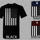 Men T Shirt American Flag Black and White Adult T-Shirt S - XXL