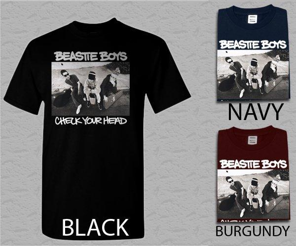 Men T Shirt Beastie Boys Mike D Ad-Rock Check Your Head Retro Vintage Adult T-Shirt
