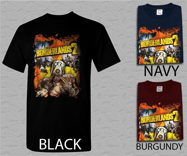 Men T Shirt Borderlands 2 Characters Adult T-Shirt S - XXL