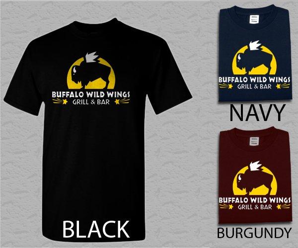 Men T Shirt Buffalo Wild Wings logo grill and bar Adult T-Shirt S - XXL