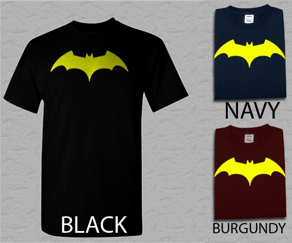 Men T Shirt DC Comics Batman Fly Hush Bat Logo Men's Adult T-Shirt S - XXL