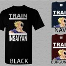 Men T Shirt Dragonball Z Inspired Train Insaiyan Gym Workout Anime Manga Adult T-shirt