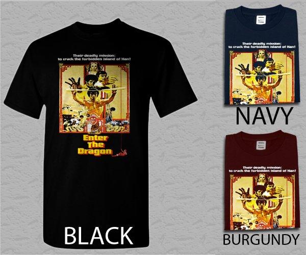 Men T Shirt Enter The Dragon - Custom Bruce Lee Adult T-Shirt S - XXL