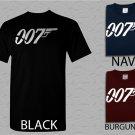 Men T Shirt James Bond 007 Logo The Movie t-shirt Adult T-Shirt S - XXL