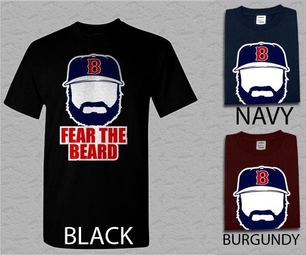 Men T Shirt Johnny Gomes Boston Red Sox FEAR THE BEARD Adult T-Shirt S - XXL
