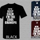 Men T Shirt Keep Calm I'm The Cool Grandpa T-Funny Humor Grandfather PaPa Mens