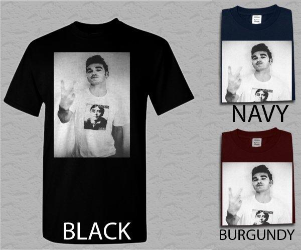 Men T Shirt Morrissey-Finger Flip rock band The Smiths Adult T-Shirt S - XXL