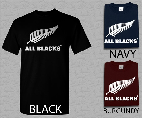 Men T Shirt New The All Blacks Rugby Team of New Zealand Adult T-Shirt S - XXL