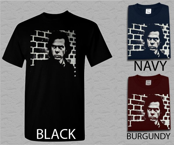 Men T Shirt Nick Cave Rock Black Sz 2XL 3XL Adult T-Shirt S - XXL