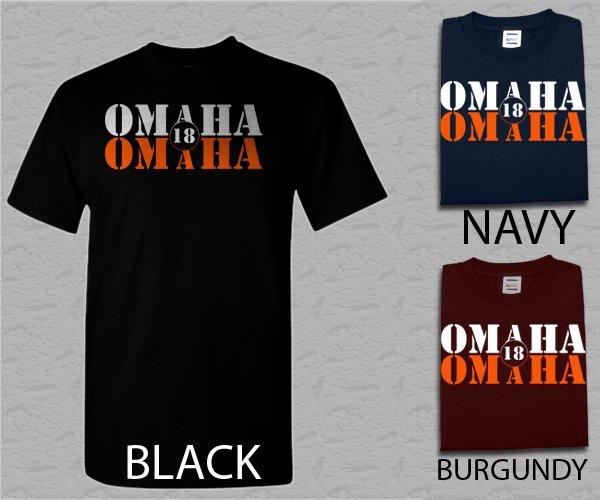 Men T Shirt OMAHA OMAHA Peyton Manning- Denver Broncos Adult T-Shirt S - XXL