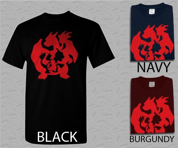Men T Shirt Pokemon Evolution Shirt Adult T-Shirt S - XXL