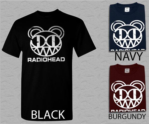 Men T Shirt Radiohead Logo Alternative Rock Band Music Adult T-Shirt S - XXL